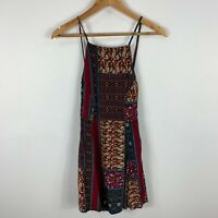 All About Eve Womens Dress 8 Multicoloured Boho Sleeveless Square Zip Closure