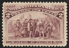 US Sc# 231 *MINT NO GUM* { -VF- 2c LANDING OF COLUMBUS } BEAUTY COLUMBIAN 1893