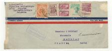 Colombie 6 timbres sur devant de lettre 1947 tampon Barranca-Bermeja /FDCag7