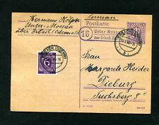 """Bizone 1946, Landpost """" under Mossau over Erbach or """" (#5420)"""