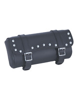 """Unik Motorcycle Studded 12"""" x 5"""" x 4"""" Tool Bag Pouch Front Fork Bag"""