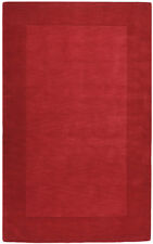 Surya Red 3 x 8 Casual Wool Border Runner Contemporary Area Rug- Approx 3' x 8'