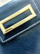 Lovely Marie Claire Navy Leather Wallet Blue with Gold Trim