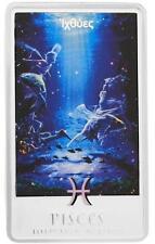 2012 Niue Large Proof Color Silver $2 Zodiac Pisces Aphrodite & Eros-Nice Folder