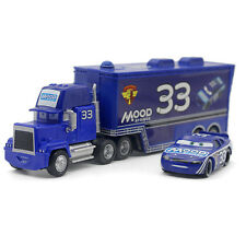 MT Disney Cars No.33 Mood Springs Mack Hauler Truck & Racer Diecast 1:55 Loose