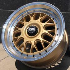 Gold 17x8.5 5x130 Rims Wheels ESM 004M fits Fits Porsche 964 993 carrera turbo