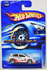 HOT WHEELS 2006 HONDA CIVIC TYPE R WHITE #133 MIB
