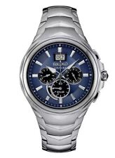 New Seiko SSC641 Coutura Solar Chronograph Stainless Steel Blue Dial Men's Watch