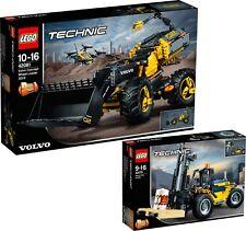 LEGO Technic 42081 Volvo Konzept-Radlader ZEUX und 42079 Schwerlast N8/18