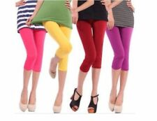 Woman cotton leggings 3/4 length all sizes&colors casual sport cropped pants-3/4