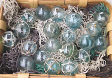 "Japanese Glass Fishing FLOATS 2"" Mixed LOT-20 10 Netted 10 w/o Net Display Decor"