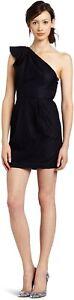 BCBG One Shoulder Flounce Black Lace Dress SZ 2 *XNU6U057-001* :D