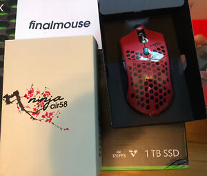Finalmouse Air58 Ninja Gaming Mouse - Cherry Blossom Red New In Box