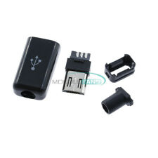 10PCS Micro USB Type B Male Plug Connector Kit with Plastic Cover for DIY MF