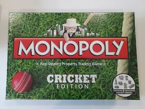 Monopoly Cricket Edition Board Game New