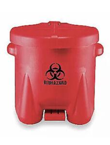 EAGLE Biohazard Step On Waste Container, 945BIO 10 Gallon Trash Can New In Box