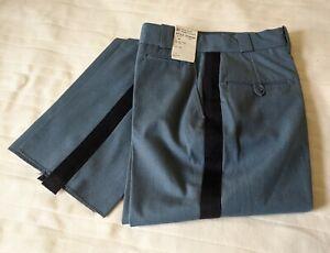 NWT Horace Small Womens Navy-Stripe Uniform Pants 8R 28W 36L unhemmed X13449L