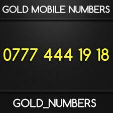 GOLD 0777 GOLDEN EASY VIP DIAMOND PLATINUM 0777 MOBILE NUMBER 07774441918