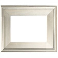 """24""""x30"""" CLASSIC MODERN Picture Paint Frame Plein Air Wood Silver 3"""" Wide 24x30"""""""