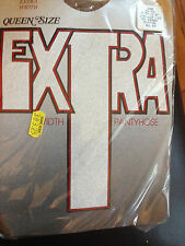 exciting! Vintage Extra Width nude queen size pantyhose 3x-4x