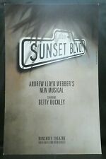 "Sunset Blvd Musical Theater Broadway Window Card Poster 14"" x 22"""