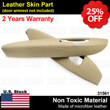 2pcs Leather Front Door Panel Armrest Cover Fit for Acura Rl 2005-2012 Beige Tan (Fits: Acura Rl)