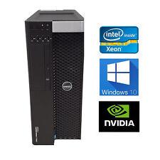 Estación de trabajo Dell T3600 E5-2667 64GB 512GB SSD 1TB SATA Quadro 4000