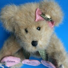 """New ListingBoyds Sissy Bearhugs """"Sisters Are Tied Together With Heartstrings"""" 9"""" plush"""