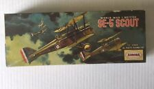 VINTAGE - SE-5 SCOUT Model Kit- Aurora 1963 World War I British