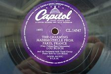 LOU BUSCH 78 RPM THE CHARMING MADEMOISELLE FROM PARIS FRANCE CAPITOL CL.14547