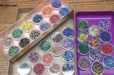 36 plastic boxes THE BEAD SHOP Seed Bugle Delica lot many colors& spacers UNUSED