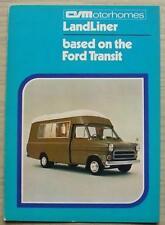 CIM LANDLINER Caravans International Ford Transit Sales Brochure Jan 1972 #FB400