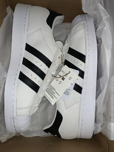 Adidas Originals Superstar Men's White Black Sneakers Shoes Size 10