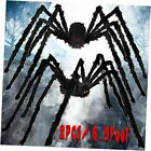 Halloween Spider Decorations (2 Pack), 6.5 FT Scary Giant Spiders, Fake Hairy