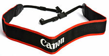 """Canon Neck Strap 1.5"""" Black/Red Edge Stitched Silver """"EOS 50D"""" - EX"""