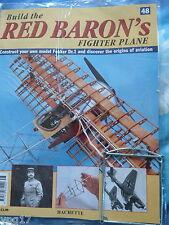 Costruire la RED BARON's FIGHTER AEREO FOKKER DR1 Hachette Fascicolo 48 NUOVO SIGILLATO