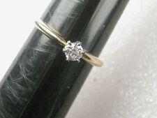 Vintage 14kt  Diamond Engagement or Promise Ring, sz 5.5