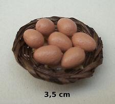 panier avec œufs miniature,maison de poupée,vitrine,alimentation,cuisine  *CL7