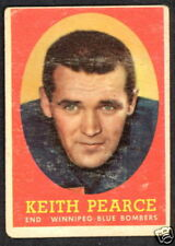 1958 TOPPS CFL FOOTBALL 88 KEITH PEARCE BLUE BOMBERS