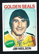 Jim Neilson signed autograph auto 1975-76 Topps Hockey Trading Card