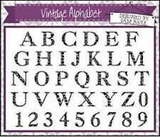CREATIVE EXPRESSIONS  A5 Clear Stamps VINTAGE ALPHABET + Numbers SAM POOLE