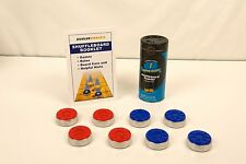 LARGE SHUFFLEBOARD TABLE WEIGHTS PUCKS + WAX + ZIEGLERWORLD RULE BOOK
