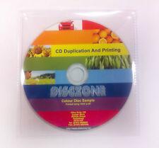 CD Vervielfältigung - 100 CD/DVD Inkjet Druck & dupliziert-Kunststoff Brieftasche
