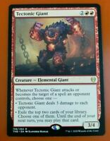 Mint//Near-Mint English Foil Extended Art Theros Be 1 x MTG Tectonic Giant