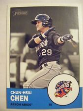 CHUN-HSIU CHEN AKRON AEROS 2012 Topps Heritage Minors baseball card TAIWAN #147