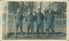More details for ww2 south wales borderers group 4 soldiers stood in goal on park photo