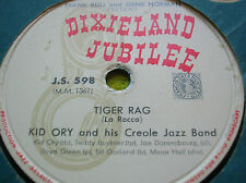 78 rpm-KID ORY and his CREOLE JAZZ BAND - Tiger rag - Eh! La bas-DIXIELAND JS598