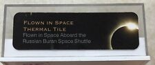 FLOWN IN SPACE THERMAL TILE PIECE IN CASE ABOARD RUSSIAN BURAN SPACE SHUTTLE