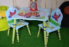 Kinder Sitzgruppe Blau Kindertisch Tisch Und 2 Stühle Mini Turbo