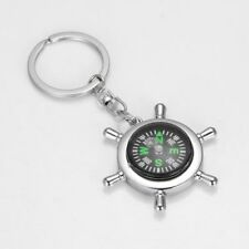 Sport Key Chain Outdoor Metal Men Portable Fashion Rudder Key Ring Compass